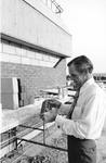 President Thomas G. Carpenter Checking Construction of Building 1, 1972