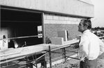 President Thomas G. Carpenter Overlooking Progress of Building 1 Construction, 1972