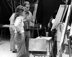 Professor Charles Charles with Student in the Studio by University of North Florida