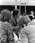 Professor Charles with Students Outside