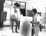 Professor Charles Teaching in the Art Studio