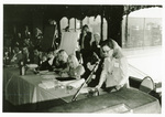 Photograph: First ASC Panel on Women and Crime, October 31, 1975. Topic: The Interaction between Female Emancipation and Female Criminality. Barbara Price, second on right; Freda Adler, third on right. With ASC conference program.