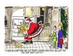Santa Raids the Refrigerator