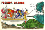 Illustration for Plastic Placemat for Kitchen Tables of 1990 Football Schedule for Florida Gators!