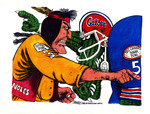 Sports Page Illustration for Rivalries FSU and UF
