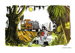 """Times-Union Sports Page Illustration of Georgia Bulldogs Visiting """"The Swamp"""", Home of The Florida Gators!"""