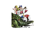 Lifestyle Page, Florida Times-Union, Illustration of Events That Weekend, Georgia-Florida Game at Gator Bowl!