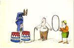 Illustration for Times-union Life Style Page on Voter Manipulation!