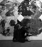 Professor Charles Charles with Artwork Display