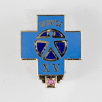 Blue Cross 15 Year Service Lapel Pin