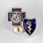 Blue Cross and Blue Shield 5 Year Service Lapel Pin