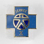 Blue Cross 10 Year Service Lapel Pin