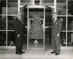 H.A. Schroder and J.W. Herbert at Blue Cross and Blue Shield's Riverside office