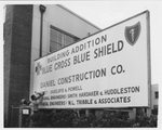 Photo of Blue Cross building construction sign