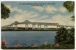 John E. Matthews Bridge over the St. John's River. Jacksonville, Florida