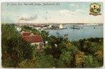 St. Johns River View with Bridge, Jacksonville, Florida 1908