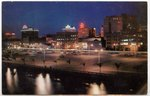 Jacksonville Skyline at Sunset. Jacksonville, Florida 1960-1980