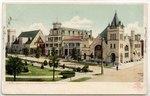 Hemming Park and Monroe Street, Jacksonville, Florida. 1907