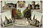 Greetings from Jacksonville, Fla. A depiction of Jacksonville's iconic churches. 1911