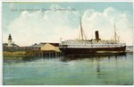 Clyde Line Wharf and Steamer, Jacksonville, Fla. 1900-1930