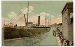 "Clyde Line Steamer ""Comanche"" Landing, Jacksonville, Florida. 1900-1930"