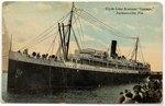 """Clyde Line Steamer """"Lenape,"""" Jacksonville, Fla. 1900-1930"""
