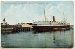 """Clyde Line Wharf and Steamer """"Apache,"""" Jacksonville, Fla. 1908"""