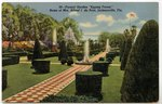 "Formal Garden ""Epping Forest,"" Home of Mrs. Alfred I. du Pont, Jacksonville, Florida Circa 1910-1950"