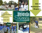 Garbage on the Green Report 2013 Summary Report by James Taylor, Katie Borello, and Blair Romain