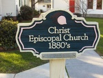Christ Episcopal Church Sign Monticello, FL by George Lansing Taylor Jr.
