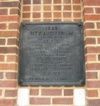 Old City Auditorium Plaque Cochran, GA