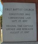 First Baptist Church Cornerstone Elberton, GA