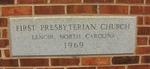 First Presbyterian Church Cornerstone Lenoir, NC