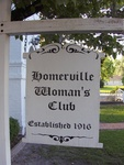 Homerville Woman's Club Sign, GA