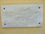 Madison Presbyterian Church Cornerstone Madison, FL