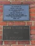 Floyd Hall UF Plaque, Gainesville, FL