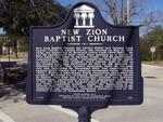 New Zion Baptist Church Historical Marker Fernandina Beach, FL