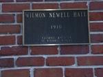 Newell Hall UF Plaque, Gainesville, FL