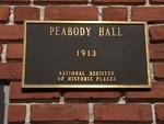 Peabody Hall Plaque, UF