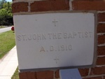 St. John the Baptist Catholic Church Cornerstone, Crescent City, FL