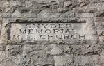 Snyder Memorial Church Engraved Stone, Jacksonville, FL