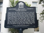 Former Brevard County Courthouse Historical Marker, Titusville, FL