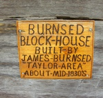 Burnsed Blockhouse Sign, Macclenny, FL