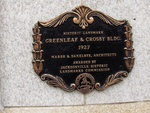 Greenleaf and Crosby Building Plaque, Jacksonville, FL