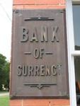 Former Bank of Surrency Plaque, Surrency, GA