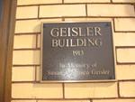 Geisler Building Marker, Brunswick, GA