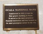 Former Ocala National Bank Historical Marker, Ocala, FL