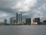 Jax Skyline from Southbank 1, Jacksonville, FL by George Lansing Taylor Jr.