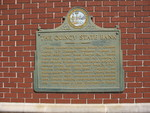 Former Quincy State Bank Historical Marker, Quincy, FL