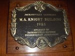 W. A. Knight Building Plaque, Jacksonville, FL